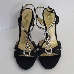 Nina High Heel Black Dress Shoes SZ 11 M